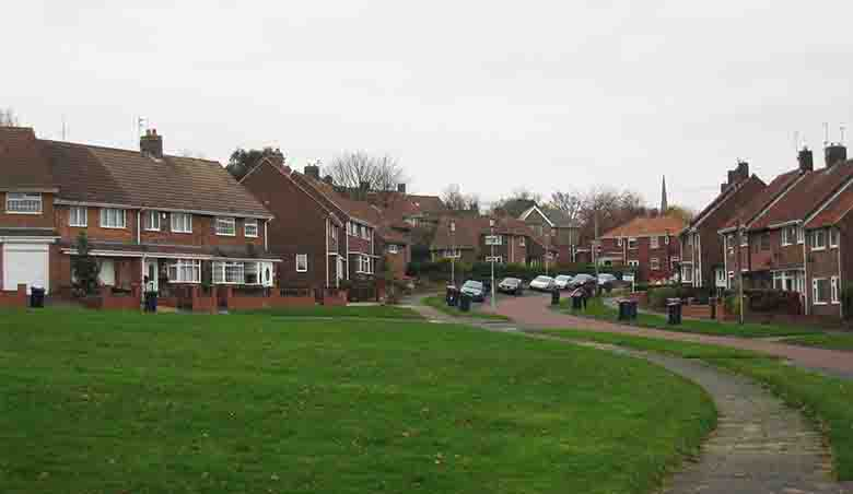 Gateshead's mix of rented and owned garden suburbia: needs management of the balance, not dogma.